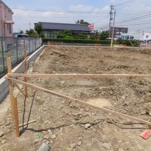 新築工事 基礎中間工程
