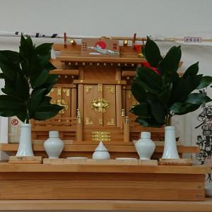 神棚の榊に感謝✨